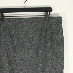LOFT Grey Wool Mini Skirt